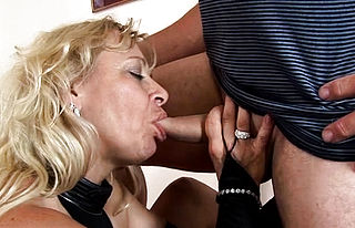 Blonde,blowjob,fingering,mature