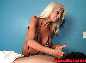 big Boobs,blonde,femdom,granny,handjob,massage,titjob
