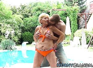 blonde,blowjob,granny,hardcore,outdoor,small Cocks