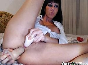 Amateur,anal,big Boobs,brunette,gaping,masturbation,milf,solo,toys,webcam